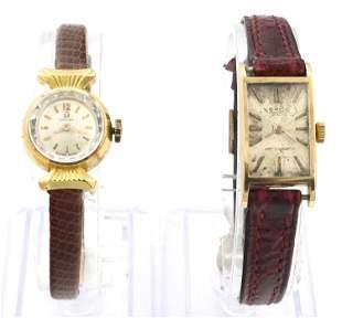 2 18k Gold Ladies Wristwatches