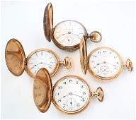 4 Gold Filled Pocket Watches