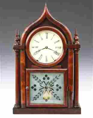 E C Brewster & Son Round Gothic Shelf Clock