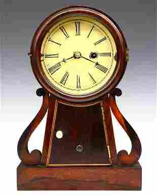American Rosewood Banjo Shelf Clock