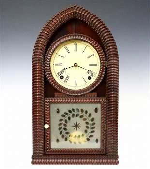 J C Brown Ripple Front Beehive Shelf Clock