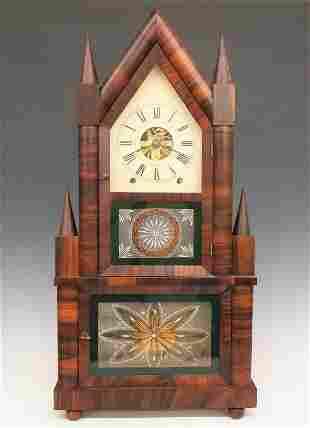 Birge & Fuller Double Fusee Shelf Clock