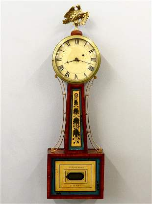 S Willard Banjo Clock