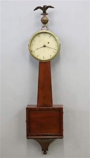 American T-bridge Banjo Clock