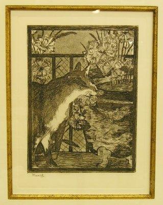 8: Manet etching