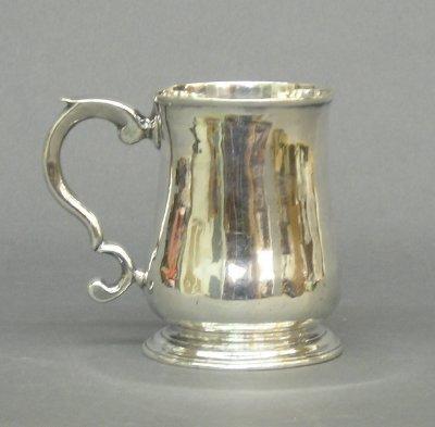12: 18th century Silver mug