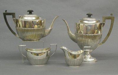 13: Birks Sterling tea set