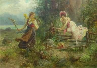 52: Hans Zatzka painting