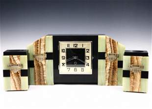 Art Deco Clock Set