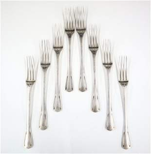 8 Christofle Dinner Forks