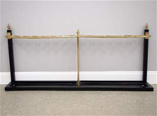 Brass And Iron Cane Rack