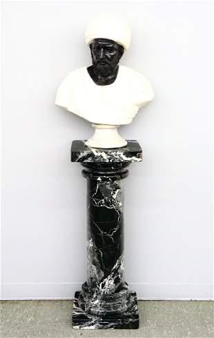Marble Bust & Pedestal