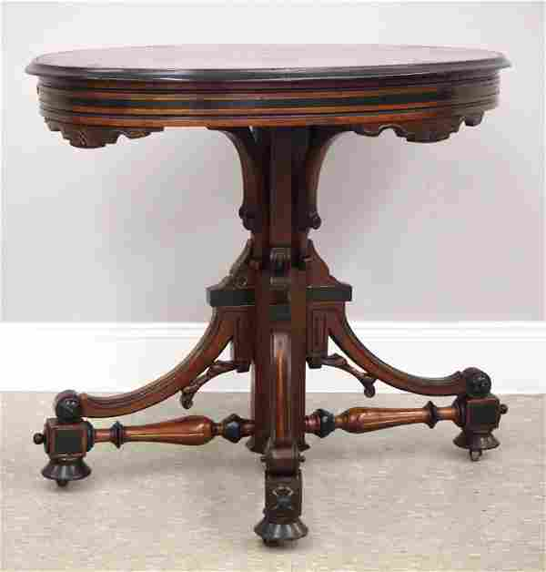 Inlaid Victorian Parlor Table