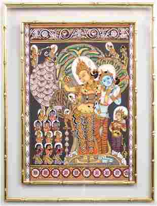 Indian Silk Painting