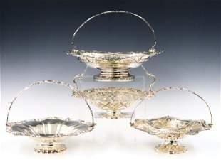 4 Silverplate Brides Baskets