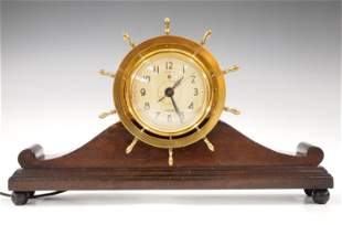 Ship's Wheel Mantle Clock