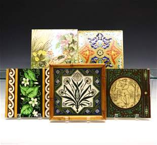 5 English Ceramic Tiles