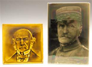 2 English Portrait Tiles