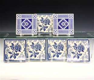 7 English Printed Tiles