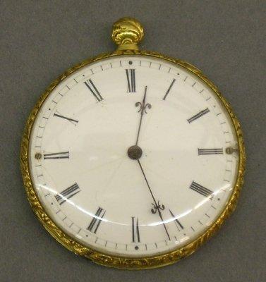 1: Swiss 18 Kt Gold pocket watch.