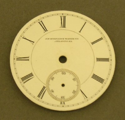 9: J P Stevens pocket watch dial