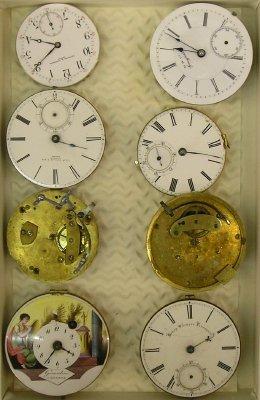 24: 8 Swiss and English pocket watch movements