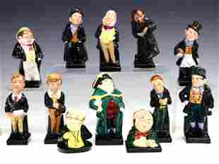 12 Royal Doulton Dickens Character Figurines