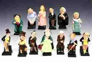 13 Small Royal Doulton Dickens Character Figurines