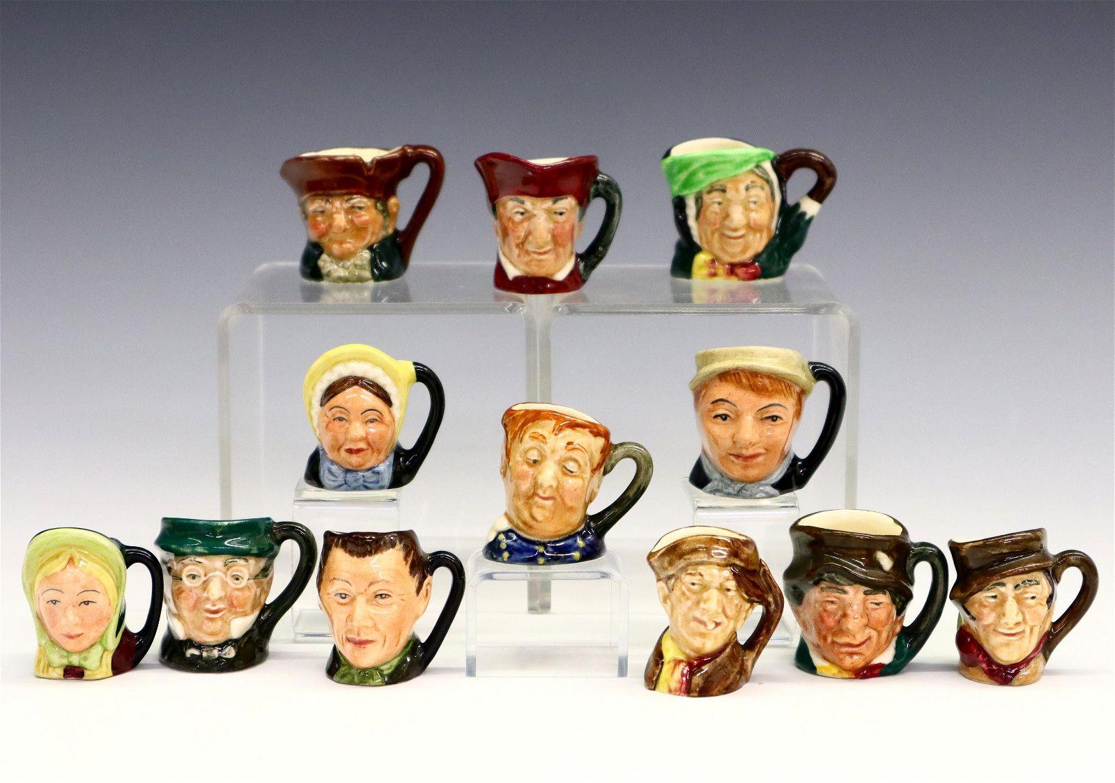 12 Royal Doulton Character Thimble Mugs