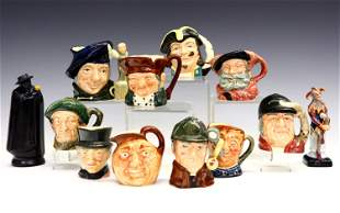 12 Small Royal Doulton Character Mugs and Figurines