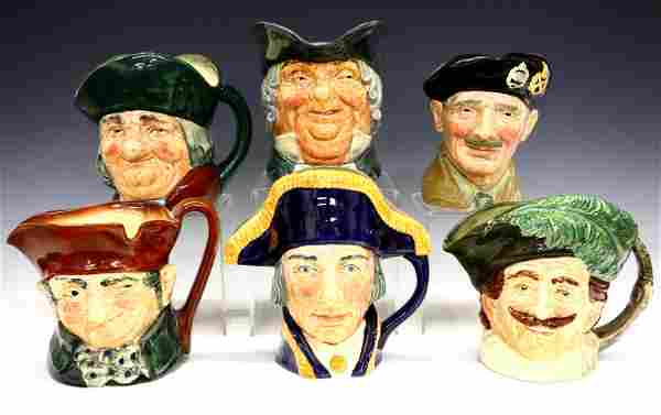 6 Royal Doulton Character Mugs