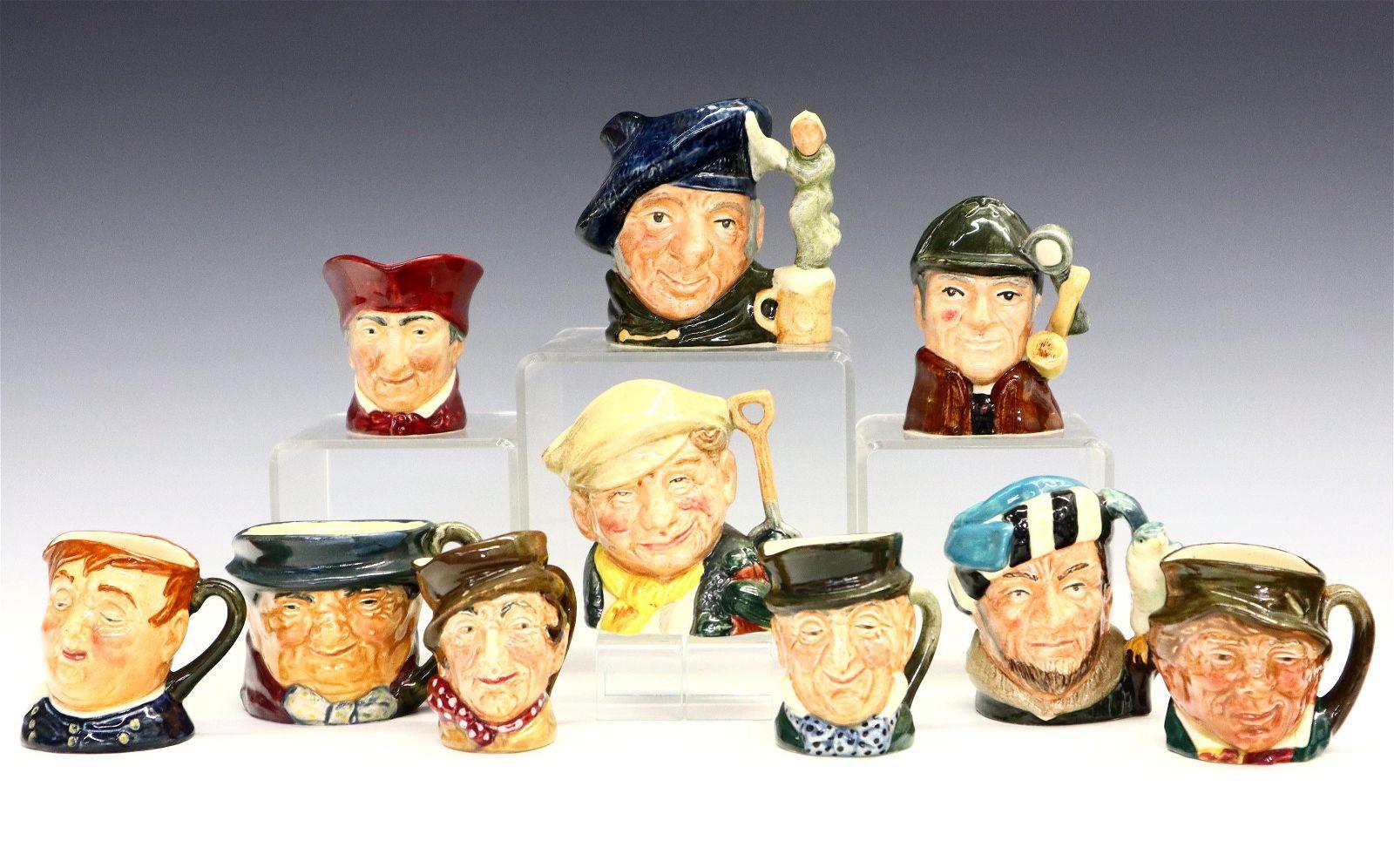 10 Small Royal Doulton Character Mugs