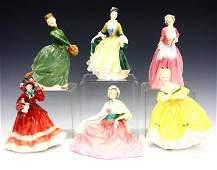 6 Royal Doulton Figures