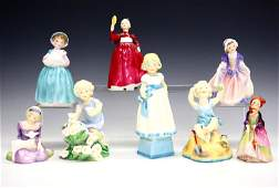 8 Figures from Royal Doulton and Royal Worcester