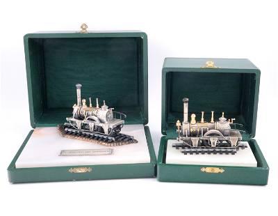 2 Italian Silver Pocher Train Models