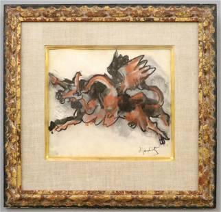 J. Lipchitz Watercolor