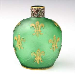 Daum Cameo Glass Bottle