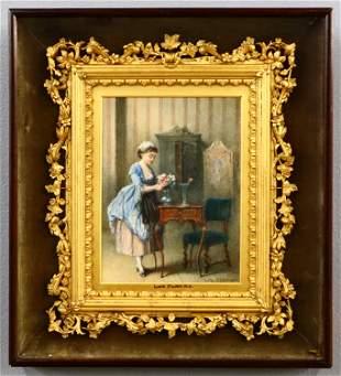 L. Fildes Interior Scene