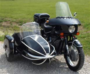 BMW R60/2 Motorcycle With Sidecar