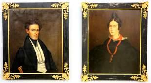 Two 19th c American Portraits