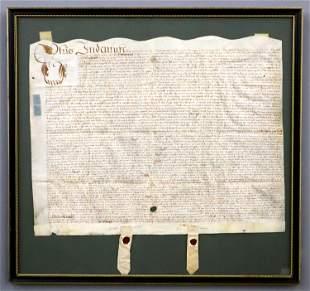 17th Century Indenture Document