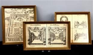 5 J. Furttenbach Engravings