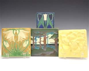 4 Art Tiles Including Motawi