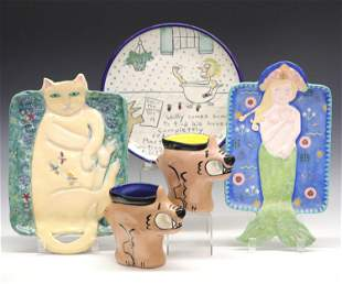 Art Pottery Dishes & Trays