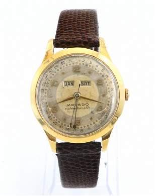 18k Movado Calendomatic Wristwatch