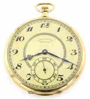 Maxima 18k Gold Pocket Watch