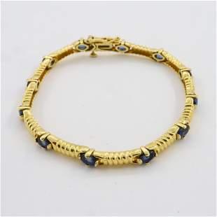 14k Gold and Amethyst Tennis Bracelet