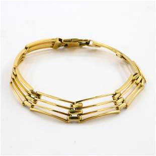 14k Gold Lattice Bracelet