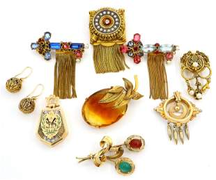 9 Pieces of Gold Filled Jewelry