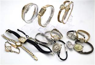 17 Gold Filled Ladies Wristwatches